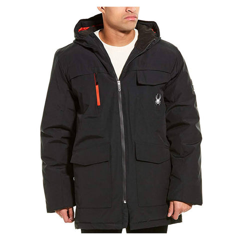 SPYDER MEN'S INSULATED SKI JACKET BLACK