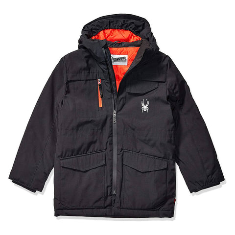 SPYDER BOY'S INSULATED SKI JACKET BLACK