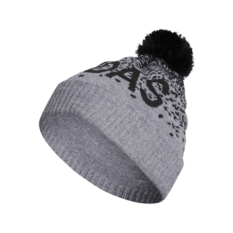 ADIDAS GRAD POM BEANIE GREY HEATHER/BLACK
