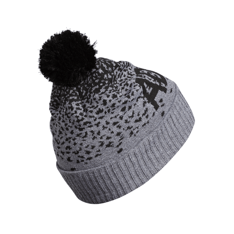 ADIDAS GRAD POM BEANIE GREY HEATHER/BLACK BACK