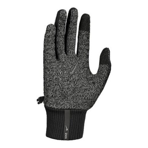 NIKE MEN'S HYPERSTORM KNIT GLOVES SMOKE GREY/BLACK