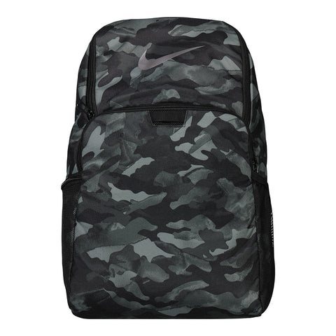NIKE BRASILIA XL BACKPACK SMOKE GREY/BLACK PRINT