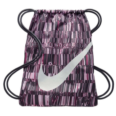 NIKE SWOOSH PRINT GYMSACK BLACK/PURPLE/WHITE