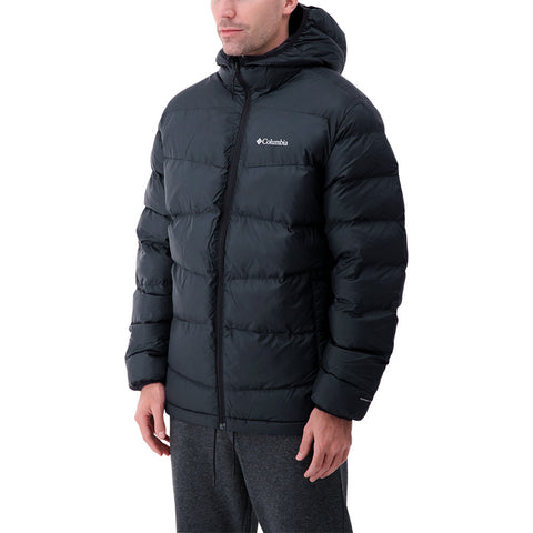 COLUMBIA MEN'S FIVEMILE BUTTE HOODED JACKET BLACK