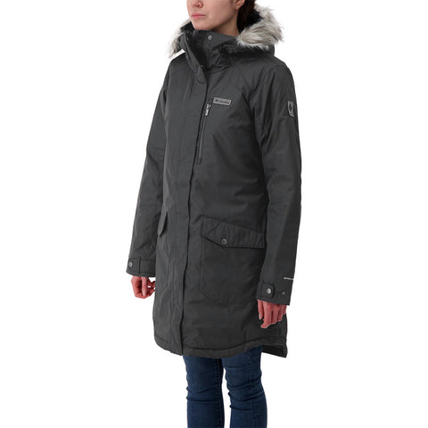 COLUMBIA WOMEN'S SUTTLE MOUNTAIN LONG JACKET BLACK