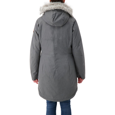COLUMBIA WOMEN'S SUTTLE MOUNTAIN LONG JACKET CITY GREY