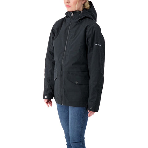 COLUMBIA WOMEN'S MOUNT ERIE INTERCHANGE 3 IN 1 JACKET BLACK