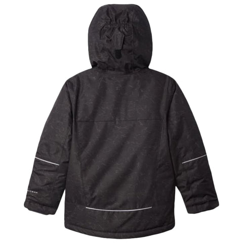 COLUMBIA BOYS MIGHTY MOGUL OMNI HEAT JACKET BLACK CRACKLE PRINT