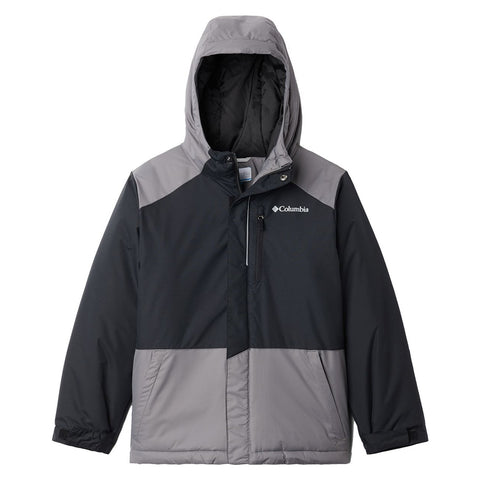 COLUMBIA BOYS LIGHTNING LIFT JACKET BLACK/CITY GREY