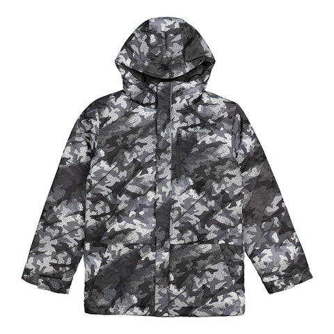 COLUMBIA BOYS LIGHTNING LIFT JACKET SHARK CAMO PRINT
