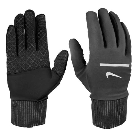 NIKE MEN'S SPHERE RUNNING GLOVES 2.0 BLACK/SILVER