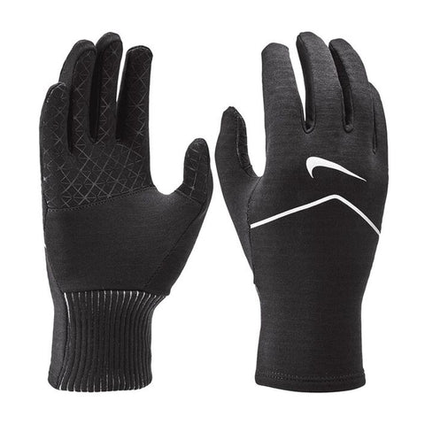 NIKE WOMEN'S SPHERE RUNNING GLOVES 2.0 BLACK/SILVER