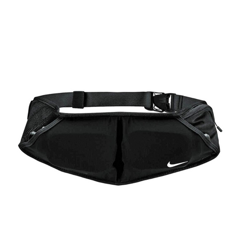 NIKE DOUBLE POCKET FLASK BELT 20OZ BLACK/BLACK/SILVER
