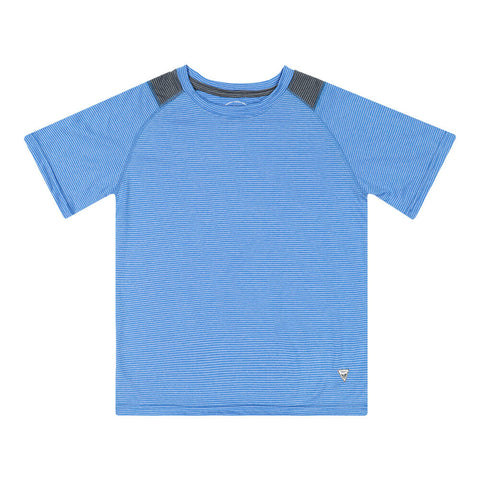 BURNSIDE BOY'S SHORT SLEEVE TEE BLUE