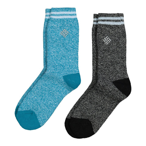 COLUMBIA WOMEN'S THERMAL 9-11 2 PACK SOCKS FJORD BLUE