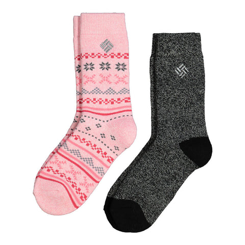 COLUMBIA WOMEN'S THERMAL FAIR ISLE 9-11 2 PACK SOCKS