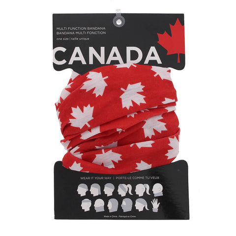 GREAT NORTHERN CANADA BANDANA BUFF RED PACKAGED