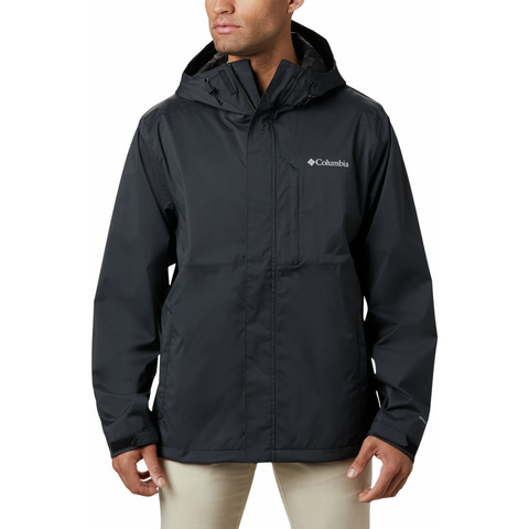 COLUMBIA MEN'S CABOT TRAIL RAIN JACKET OMNI TECH BLACK