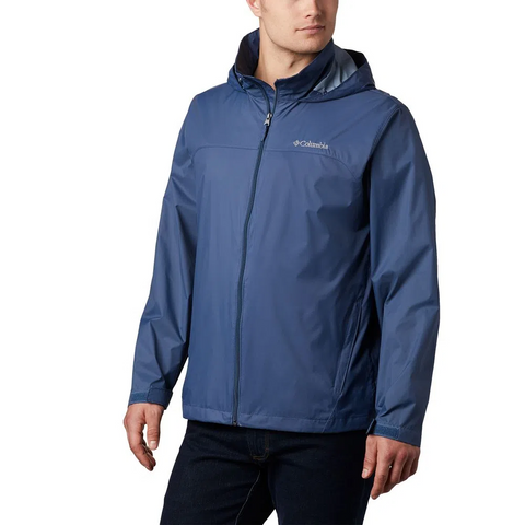 COLUMBIA MEN'S GLENNAKER LAKE RAIN JACKET DARK MOUNTAIN