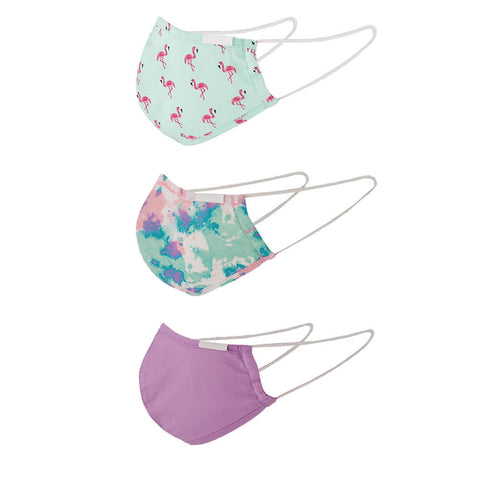EXP G COMFORT FACE MASK (NON-MEDICAL) 3PK FLAMINGO AOP SIDE VIEW