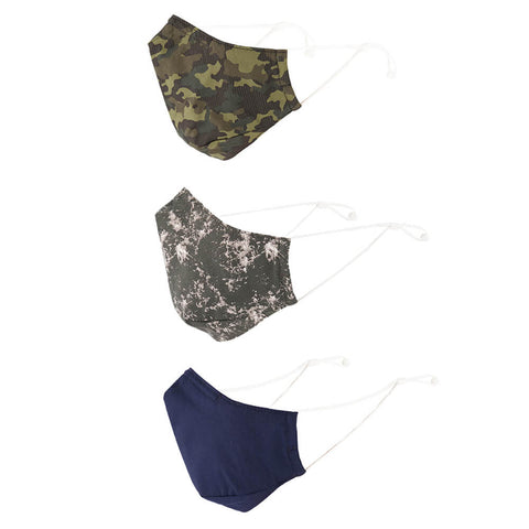 EXP M COMFORT FACE MASK (NON-MEDICAL) 3PK CAMO SIDE VIEW