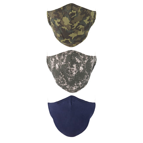 EXP M COMFORT FACE MASK (NON-MEDICAL) 3PK CAMO