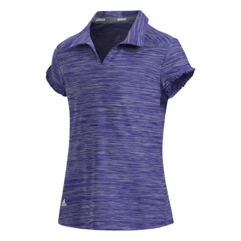ADIDAS GIRLS NOVELTY SHORT SLEEVE POLO TOP PURPLE