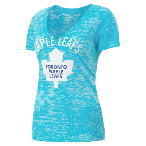 CGW WOMEN'S TORONTO MAPLE LEAFS VNECK NEON TOP TAHITI