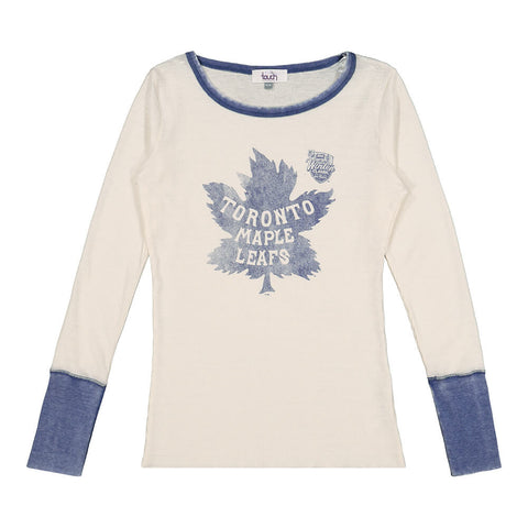 GIII WOMEN'S TORONTO MAPLE LEAFS QUICK PASS THERMAL TOP