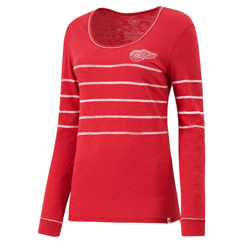 47 BRAND WOMEN'S DETROIT RED WINGS BASELINE LONG SLEEVE TOP