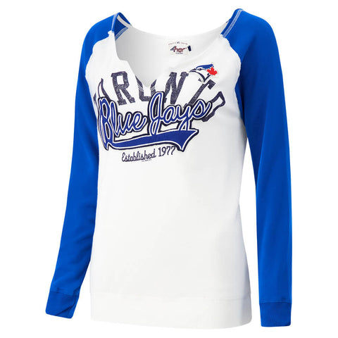 GIII 4HER WOMEN'S TORONT BLUE JAYS ACE PULLOVER TOP