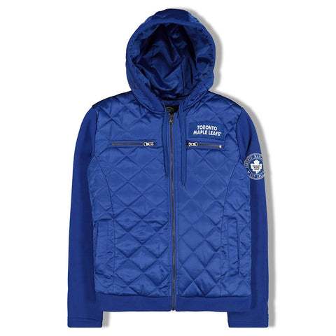 GIII 4HER WOMEN'S TORONTO MAPLE LEAFS END ZONE QUILTED HOODY