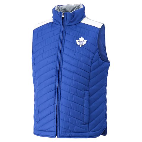 GIII MEN'S TORONTO MAPLE LEAFS RUNDOWN PUFFER VEST