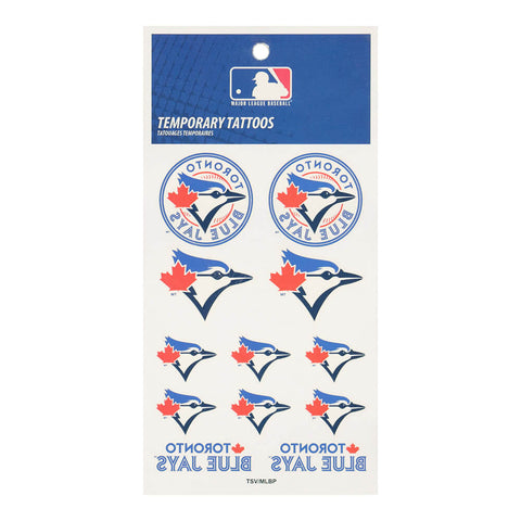 THE SPORTS VAULT TORONTO BLUE JAYS TATTOO SHEET