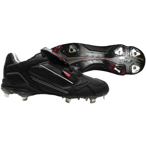 RAWLINGS MEN'S WIZARD BASEBALL METAL CLEAT BLACK