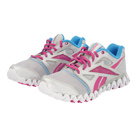 REEBOK GIRLS GRADE SCHOOL ZIG NANO FLY 2 KIDS SHOE GREY/BERRY