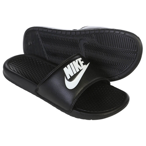 2ff92485822e NIKE MEN S BENASSI   JUST DO IT   SLIDE BLACK