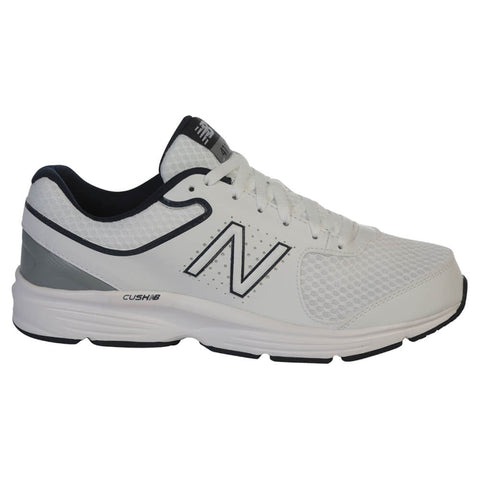 NEW BALANCE MEN'S MW411WB2 - 2E WIDTH WALKING SHOE WHITE/BLUE