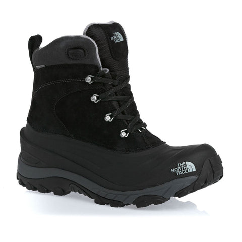 THE NORTH FACE BOYS CHILKAT LACE II WINTER BOOT BLACK/ZINC GREY