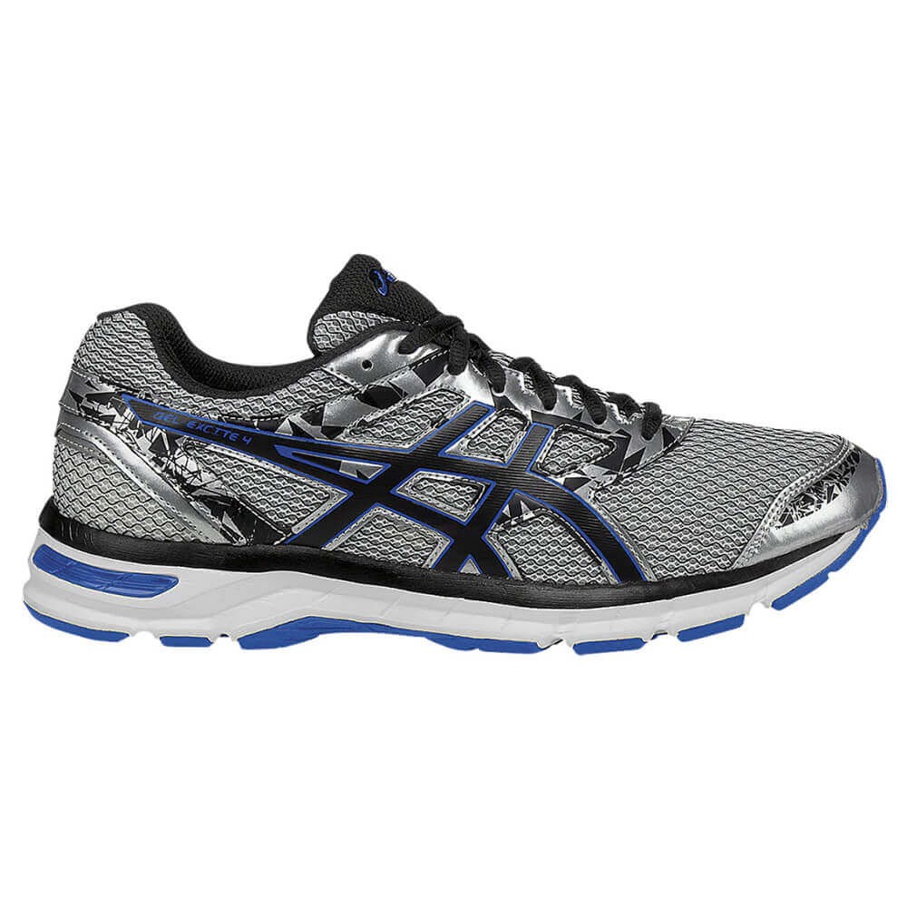 ASICS MEN S GEL EXCITE 4 RUNNING SHOE SILVER BLACK IMPERIAL ... 9b23a444c0ec7