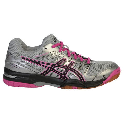 ASICS WOMEN'S GEL ROCKET 7 COURT SHOE SILVER/BLACK/PINK