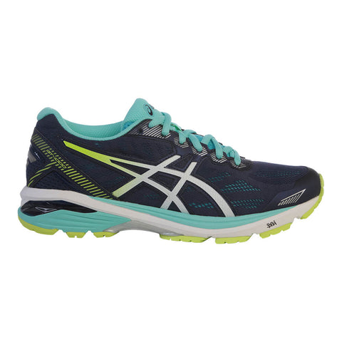 ASICS WOMEN'S GT-1000 5 RUNNING SHOE BLUE/WHITE/YELLOW