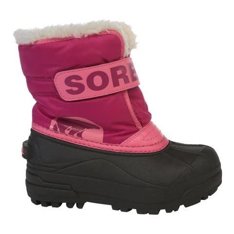 SOREL GIRLS SNOW COMMANDER WINTER BOOT PINK