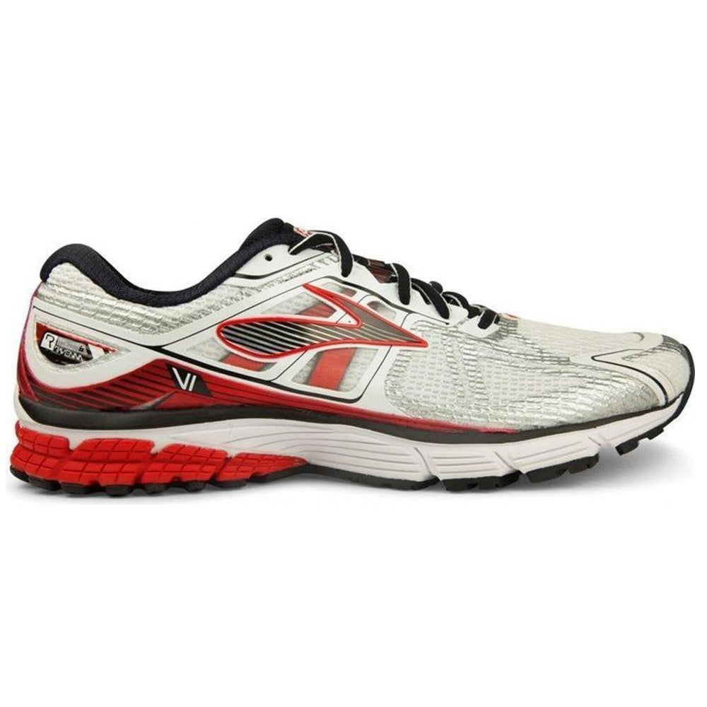 competitive price fb6fe 5f336 BROOKS RAVENNA 6 WHT/RED/BLK