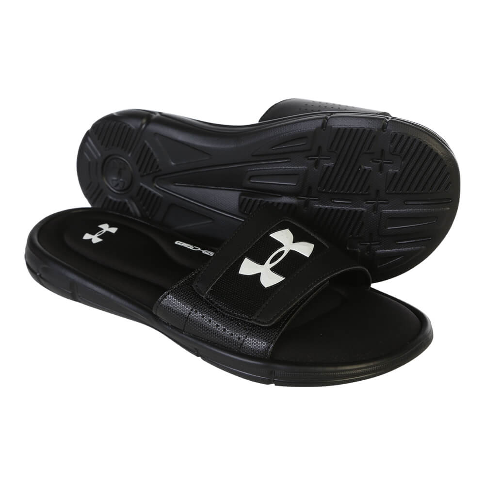 4896acf2 UNDER ARMOUR MEN'S IGNITE V SL SLIDE BLACK/WHITE