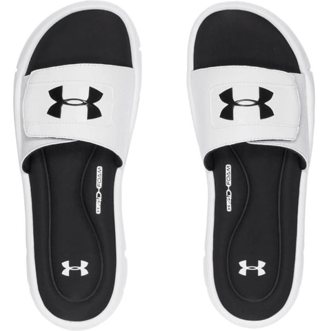 UNDER ARMOUR MEN'S IGNITE V SL SLIDE WHITE/BLACK