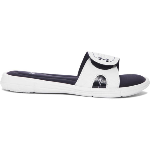 UNDER ARMOUR WOMEN'S IGNITE VIII SL SLIDE WHITE/BLACK