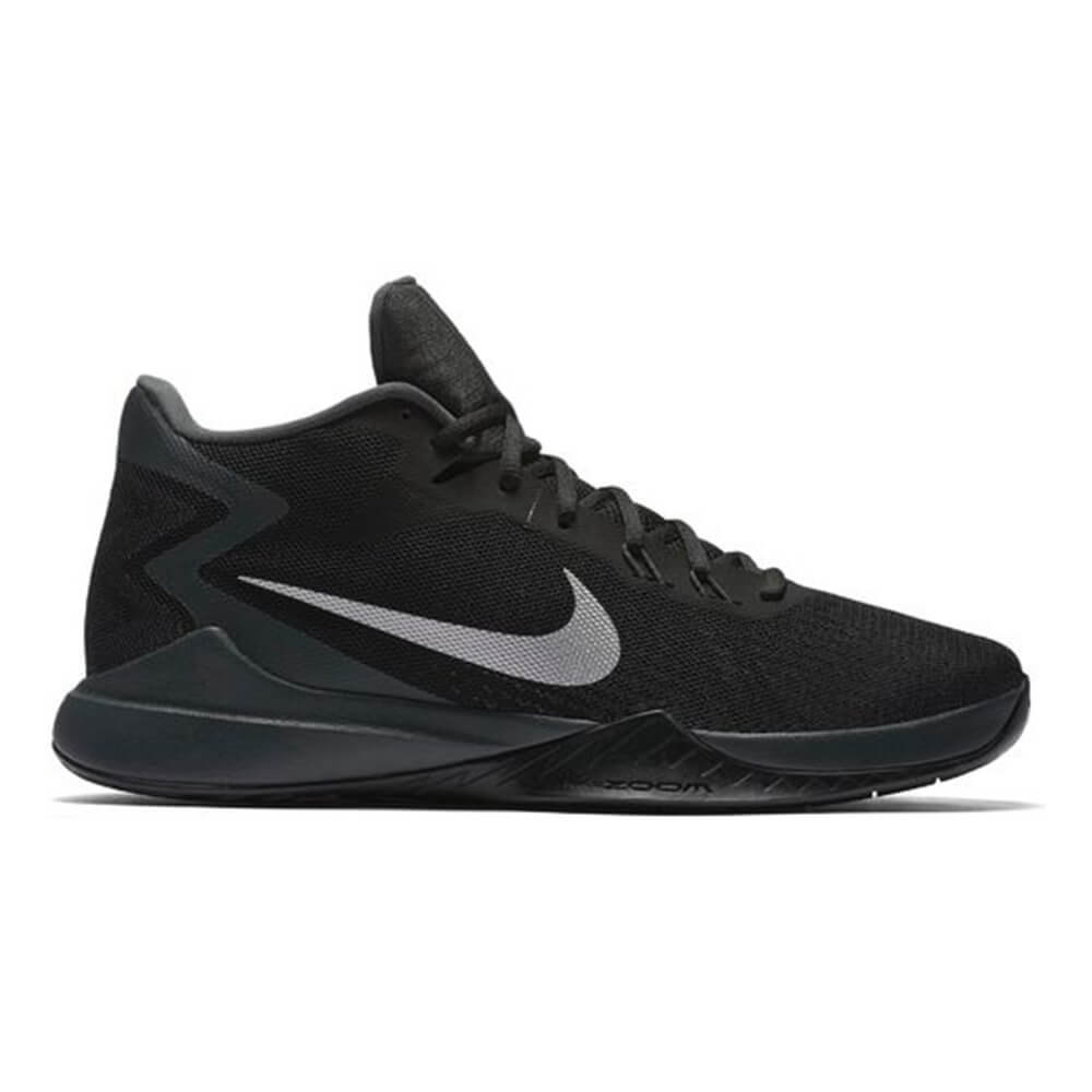 0be9c9867363 NIKE MEN S ZOOM EVIDENCE BASKETBALL SHOE BLACK WHITE – National Sports