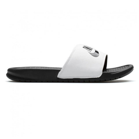 NIKE MEN'S BENASSI ''JUST DO IT'' SLIDE WHITE/BLACK