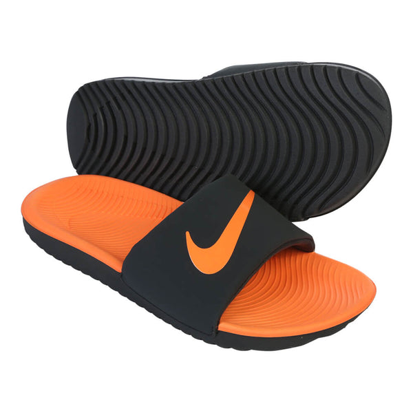 33aa81e19 NIKE JUNIOR KAWA SLIDE GREY ORANGE – National Sports